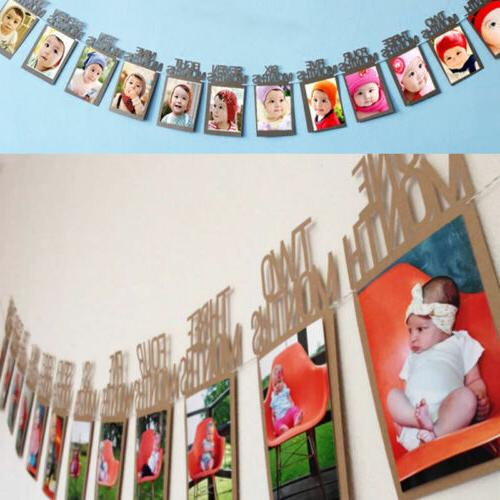 1-12 Months Baby's 1st Bunting Banner Decor US