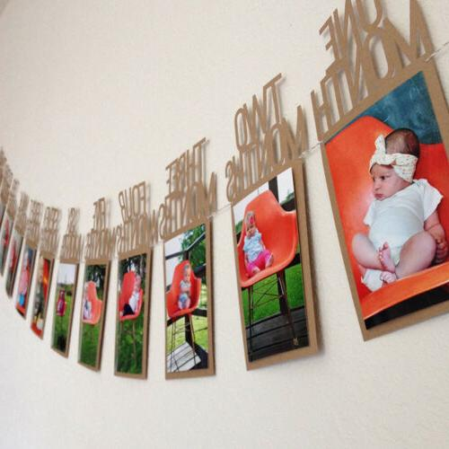 1-12 Months 1st Bunting Banner Party US