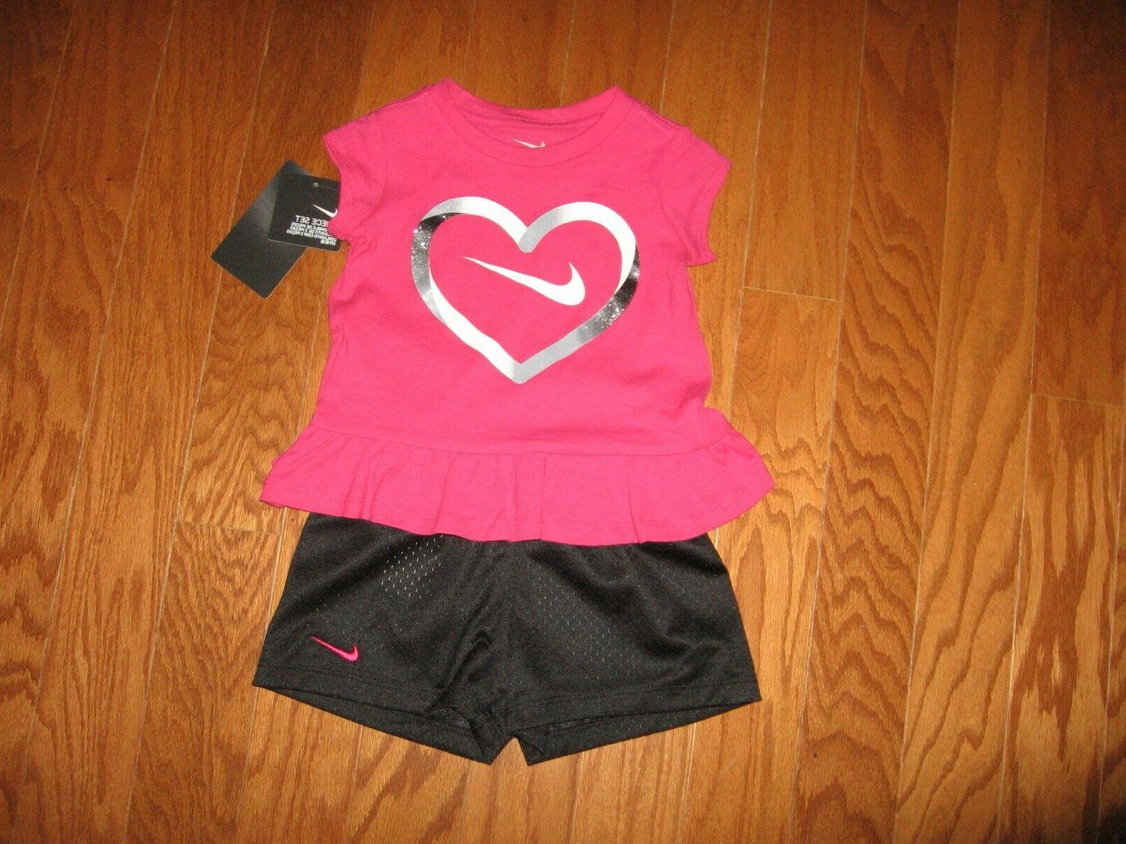 Nike Pc Set Tee Dri Girls 12M/18M/24M/2T/3T/4T