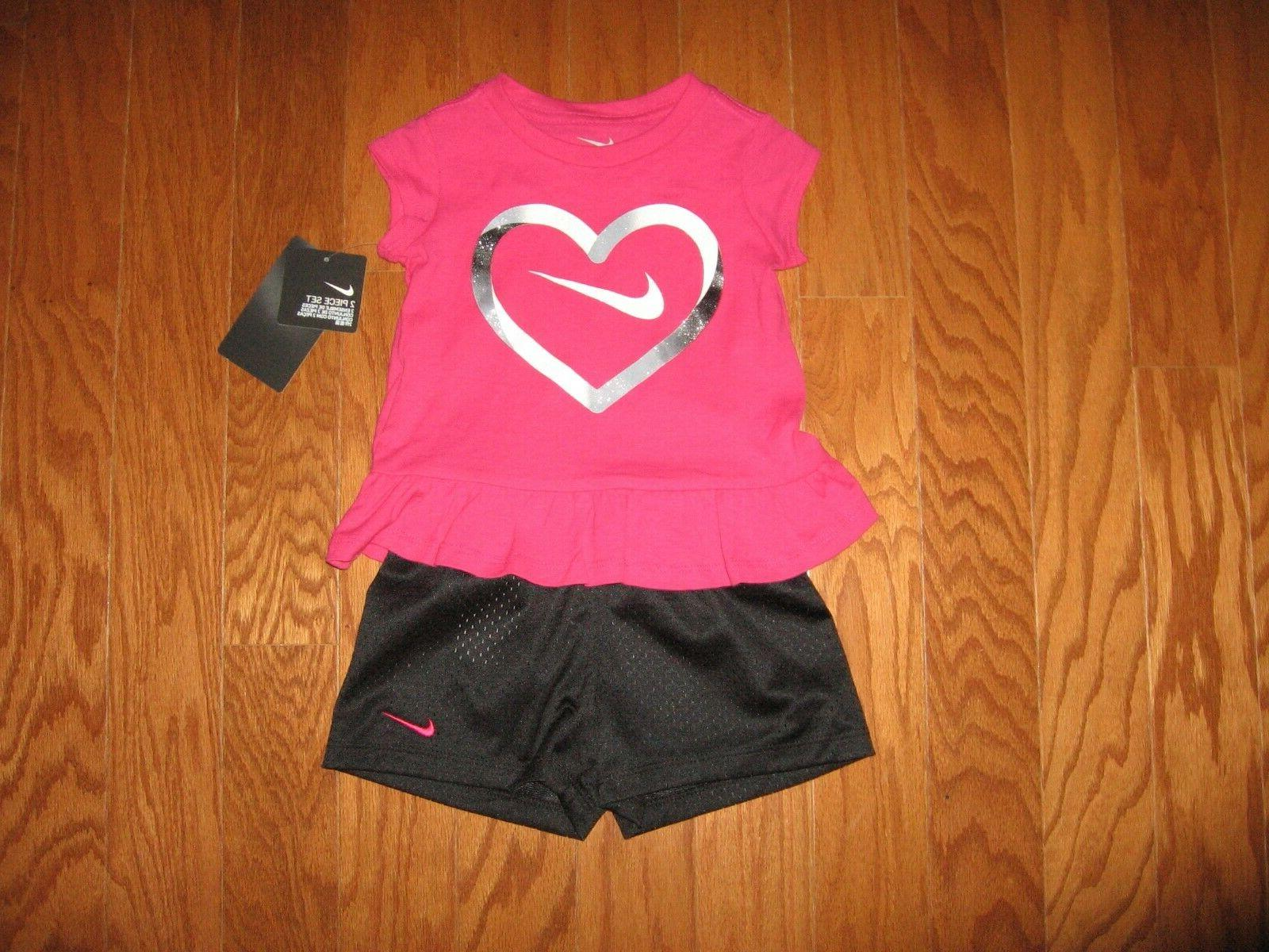Nike 2 Pc Set Tee Dri Fit 12M/18M/24M/2T/3T/4T NWT