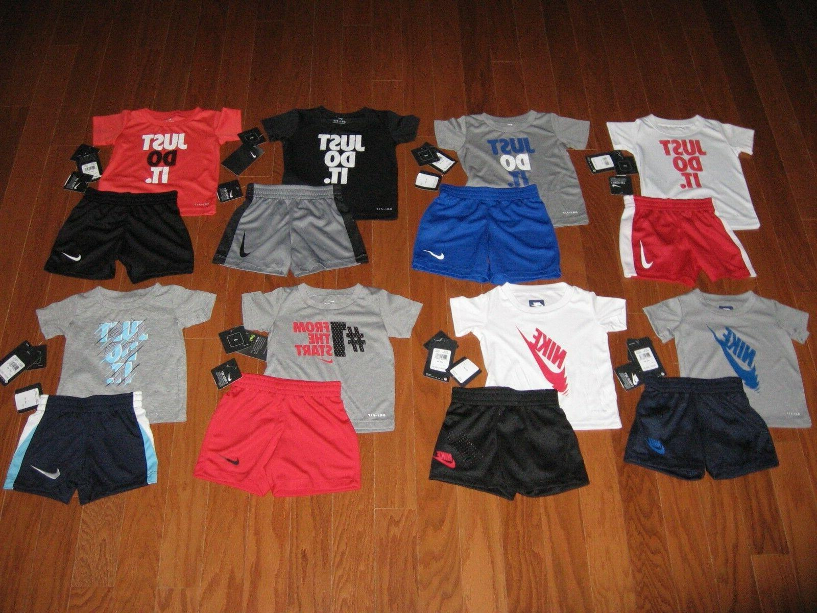 Nike 2 Pc T-Shirt & Shorts DRI-FIT Outfit Set Boys 12M  18M