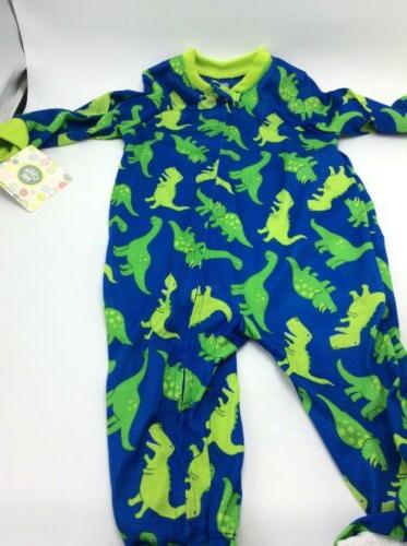 $20 Boys little me dinosaur footie sleeper 12 months BX 1