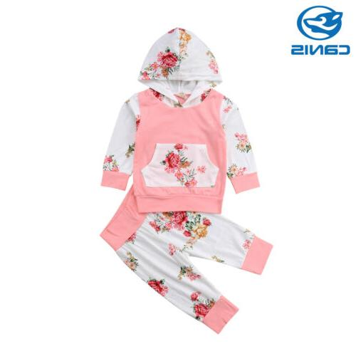 2PCS Newborn Baby Infant Leggings Tracksuit US