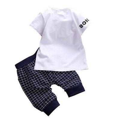 2PCS Toddler Kids T-shirt Outfits