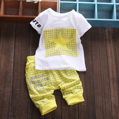 2PCS Baby T-shirt + Pants Outfits