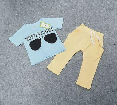 2PCS Toddler Summer T-Shirt Pants Outfits 1-5Y