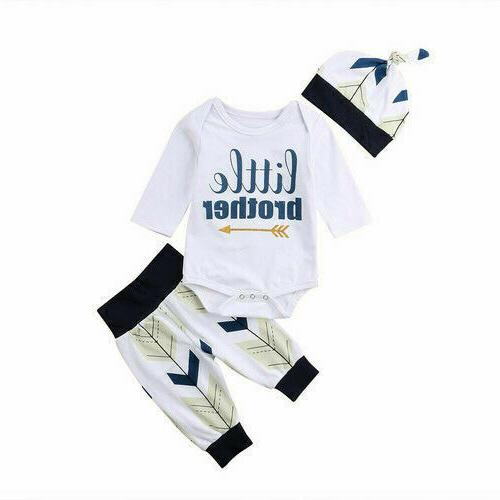 3PC Baby Romper Tops Long Pants + Outfits