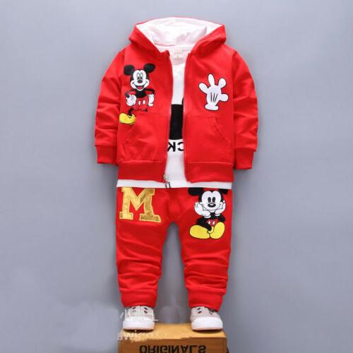 3pcs boys coat+T tracksuit outfits set