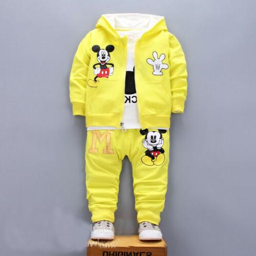 3pcs toddler clothes boys tracksuit set