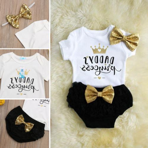 3PCS Girl Outfit Shorts Pants Stock