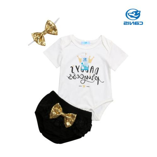 3PCS Outfit Romper+Tutu Shorts Pants Stock