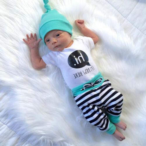 3pcs Newborn Infant Baby Clothes Outfit Ropa Bebe