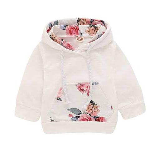 3PCS Girl Boy Clothes Hoodie Set