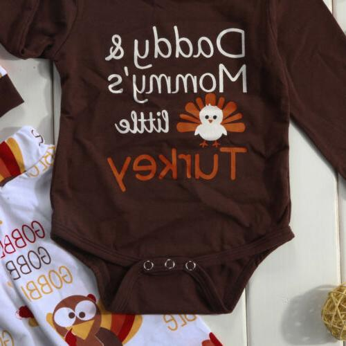 4Pcs Thanksgiving Gifts Infant Baby Tops