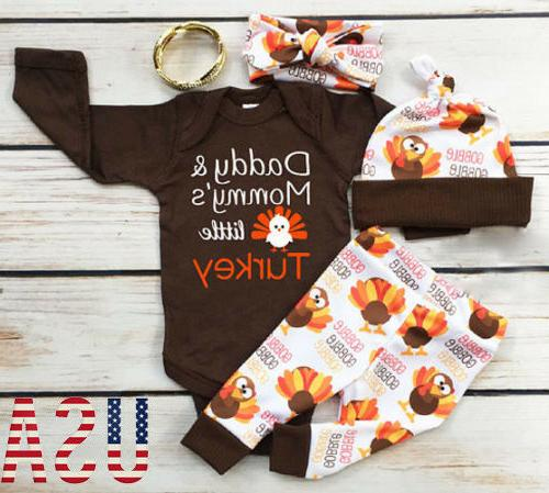 4pcs thanksgiving gifts clothes infant baby boy
