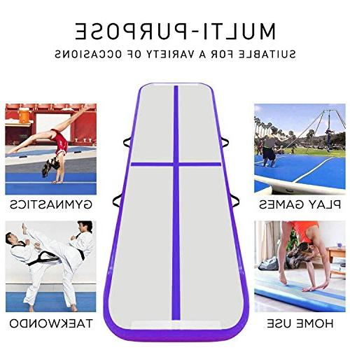9.84ft/13.12ft/16.4ft/19.68ft track mat with Electric Air for Tumbling,Parkour,