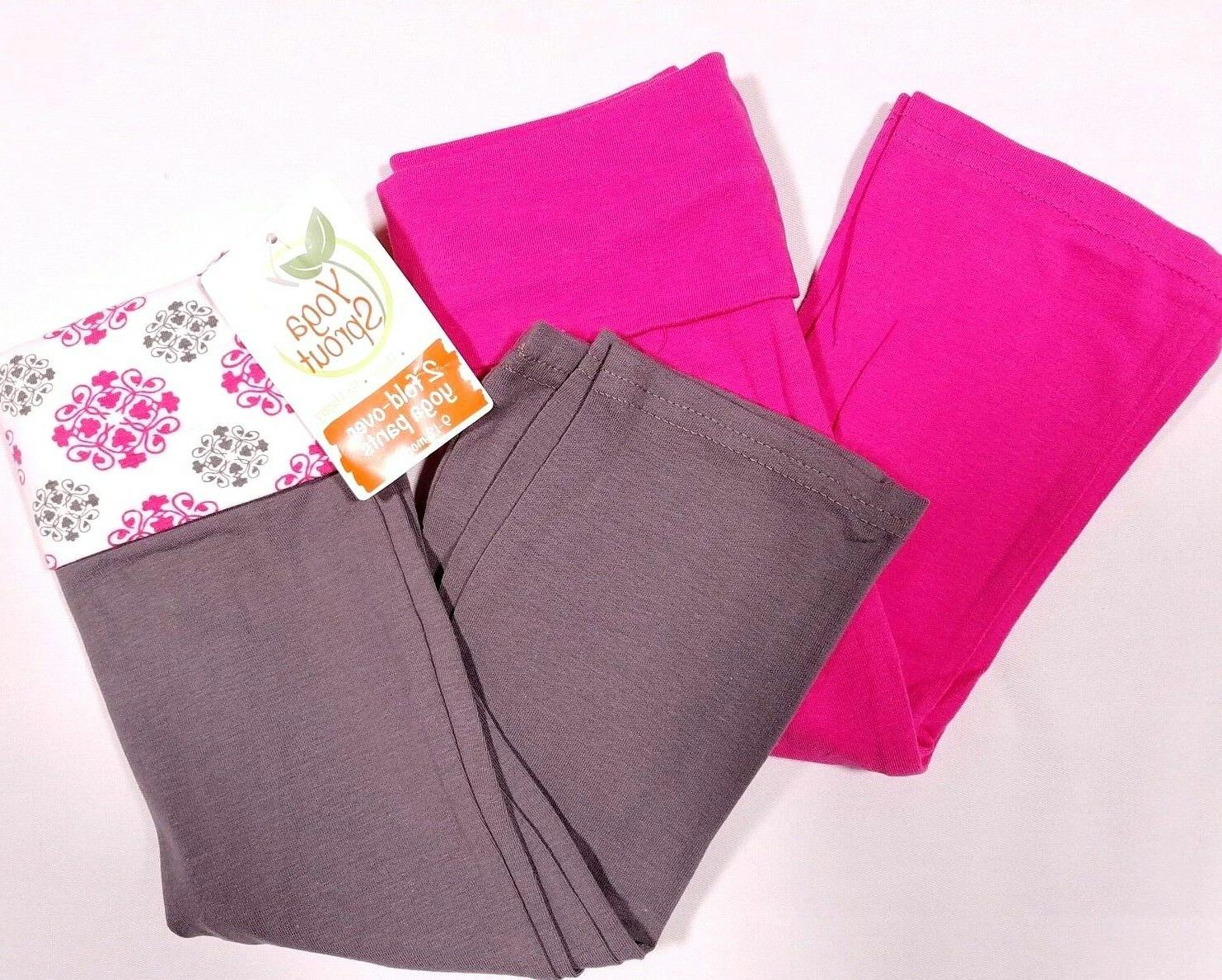 Yoga Sprout Baby-Girls Yoga Pants, Pink Medallion, 9-12 Mont