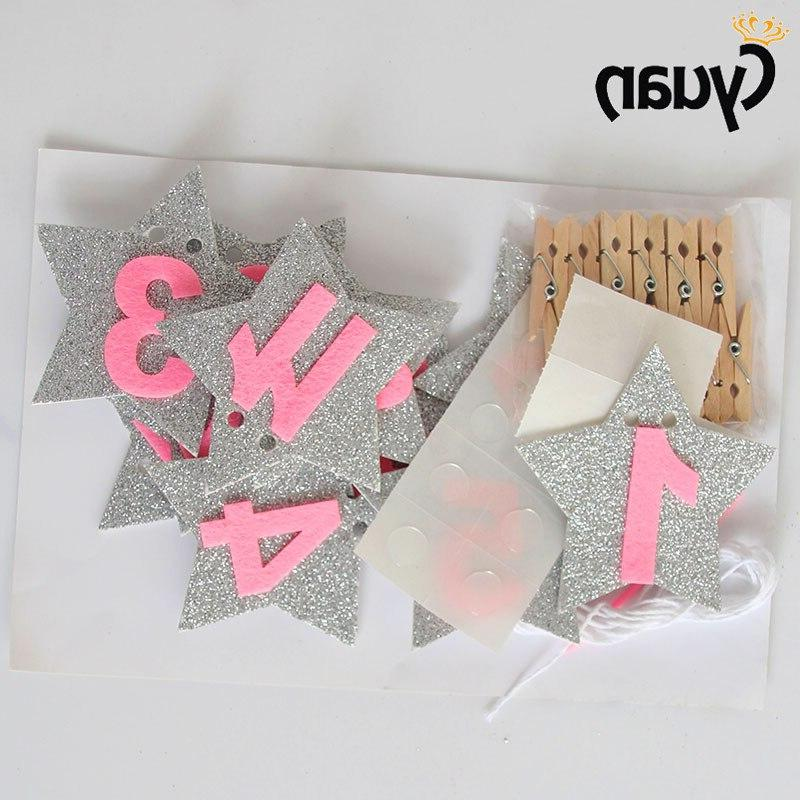 Baby 1st <font><b>Girl</b></font> <font><b>12</b></font> Photo Banner One Party Photo Bunting First Decoration