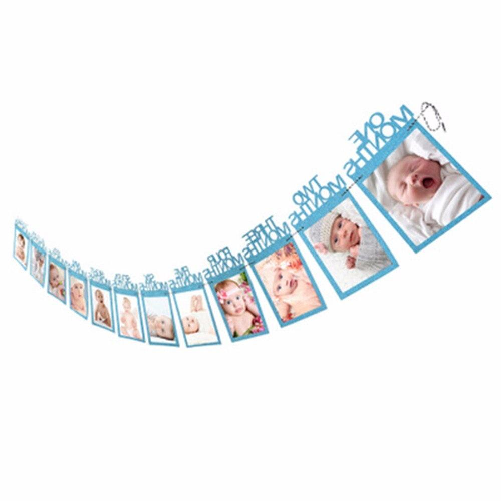 LAPHIL 1st Boy <font><b>Girl</b></font> Photo ONE Photo Banner My First Decorations Kids