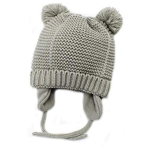 baby beanie earflaps hat infant toddler girls