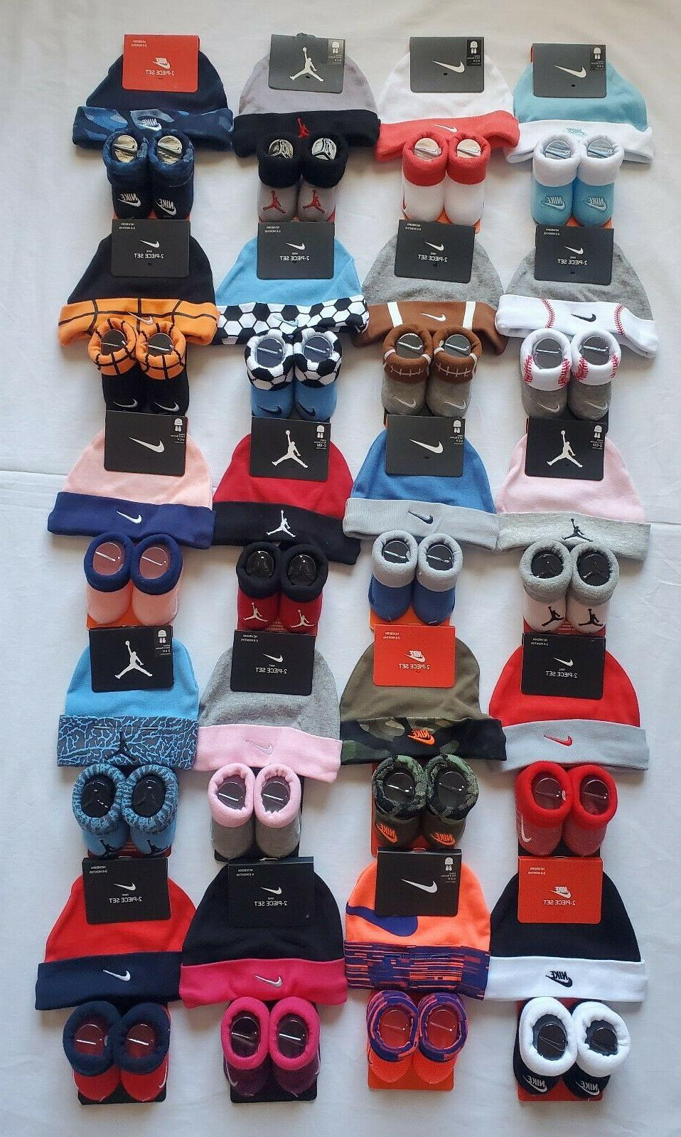 Nike Baby Booties & Cap Gift, Size 0-6 Months Multi Color Bo
