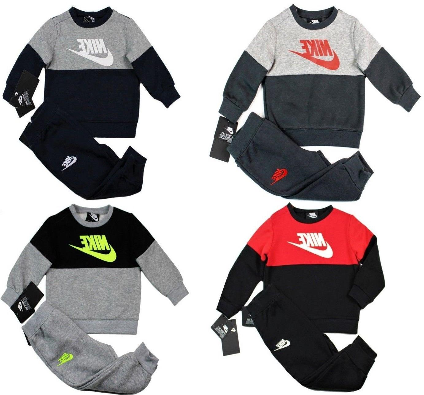Nike Baby Boy 2 Piece Tracksuit Set Sweatshirt & Pants Outfi