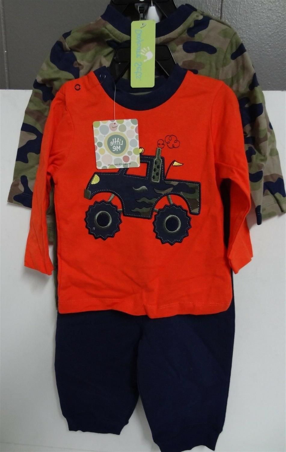 Little Me Baby Boy 4 Piece Daycare Sets Monster Truck & Camo