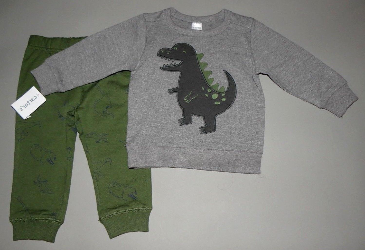 Baby boy clothes, 12 months, Carter's sweatshirt&pants/SEE D