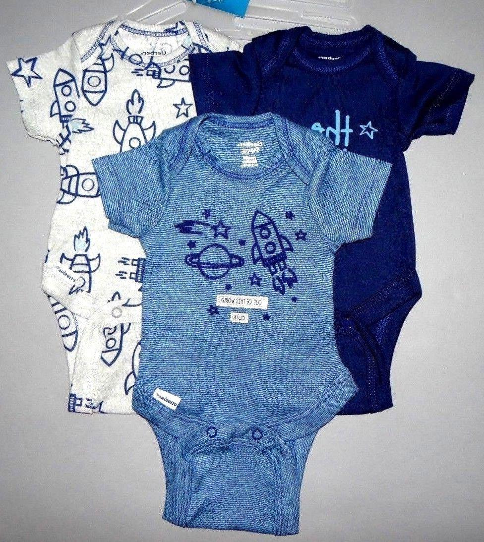 Baby boy clothes, months, Gerber Organic bodysuits/SEE DETAILS ON
