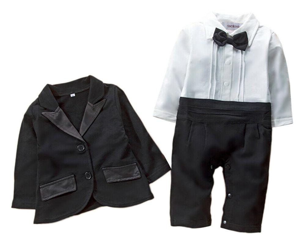 StylesILove Baby Tuxedo and 2pcs Formal