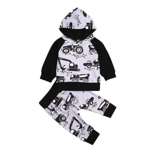 Baby Boy Clothes Tops+Pants 2PCS US