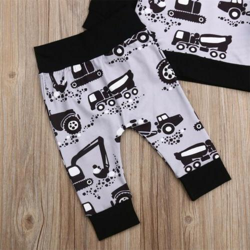 Baby Clothes Autumn Hooded Tops+Pants 2PCS Set US