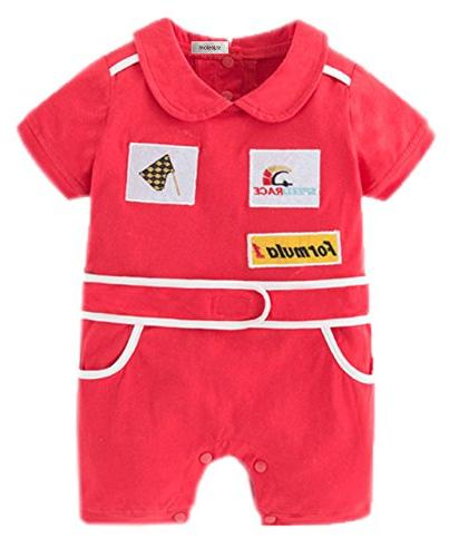 baby boy short sleeves chic car racer
