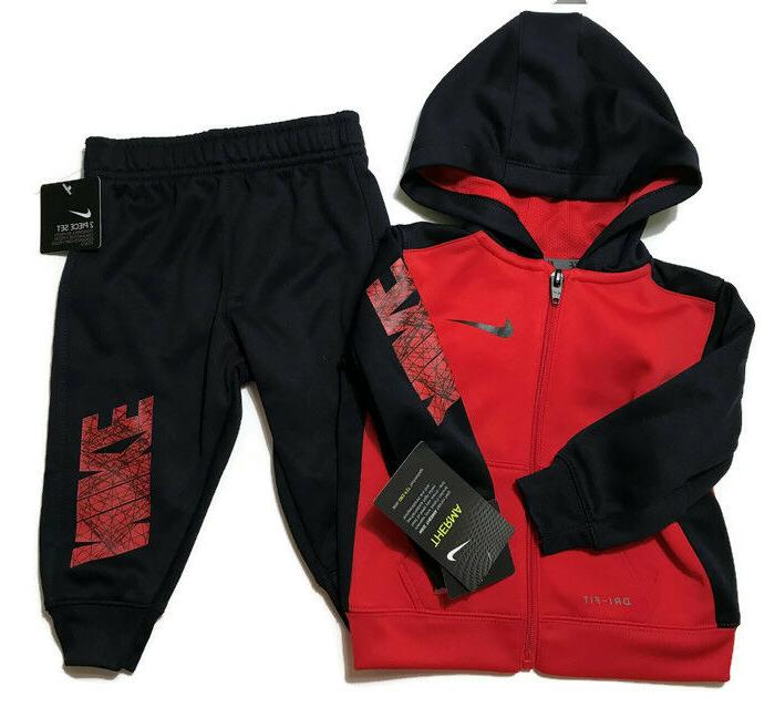 baby boys full zip therma dri fit