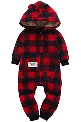 Baby Boys Christmas Outfit Long Zip-up Winter Infant ,