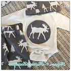 BABY BOYS MOOSE 3 PIECE SET 0-3 Months to 12 Months ~ Choose