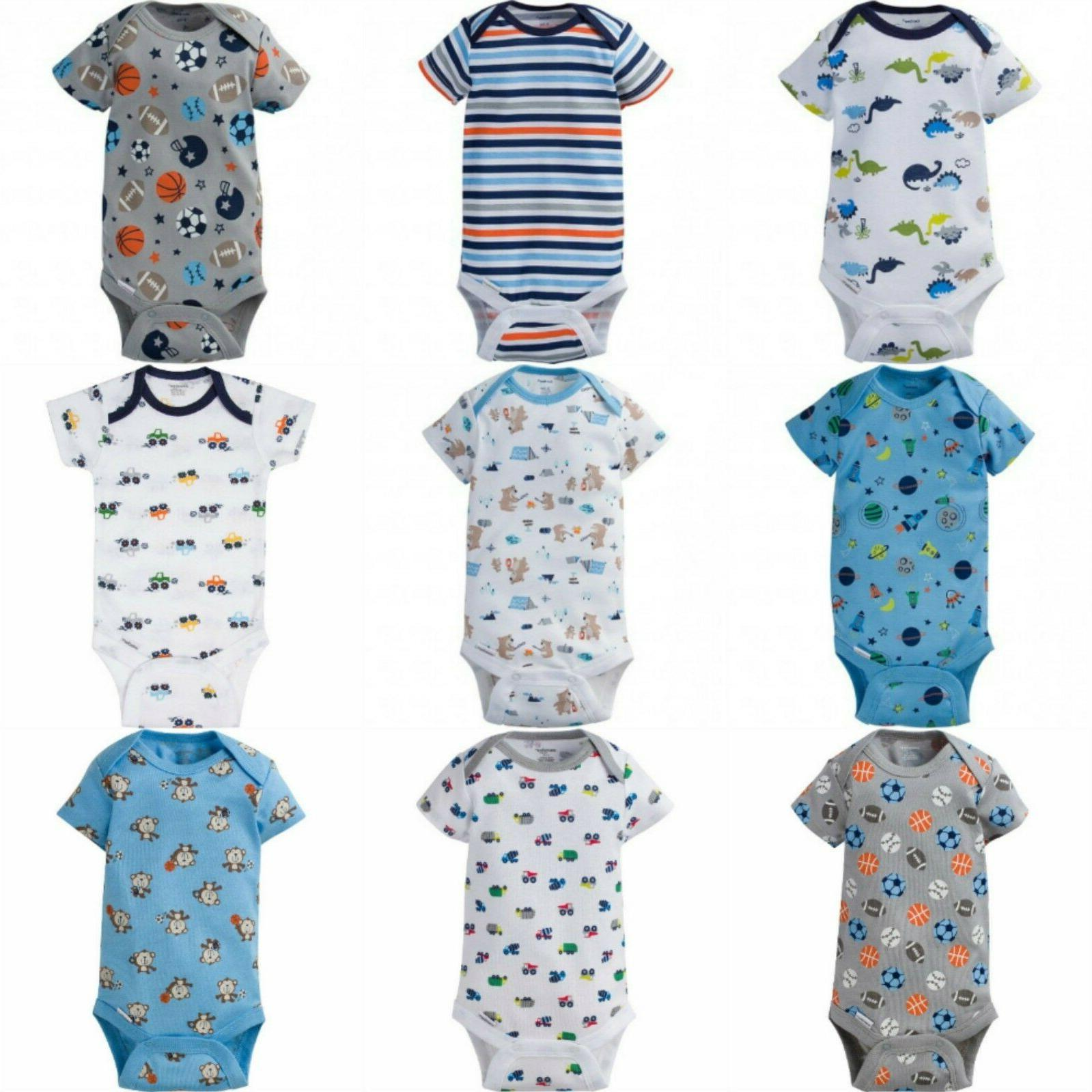Gerber Baby Boys Onesies Assorted Prints Graphics Newborn 0-