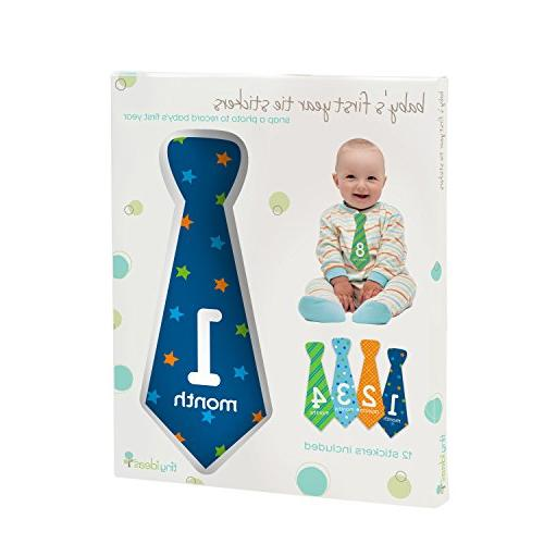 Tiny Ideas First Year Belly Stickers, Multi