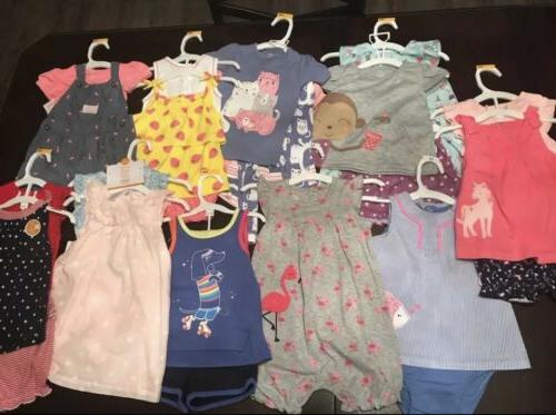 baby girl 12 months summer clothing lot