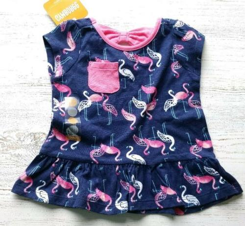 Gymboree girl outfit pink bubble NWT