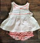 Gymboree Baby Girl Pink White Black Heart Outfit Nwt Size 6-