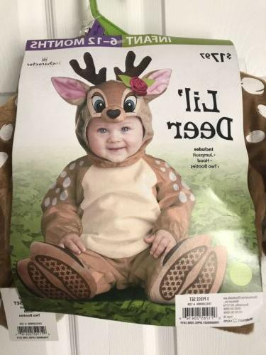 Baby Deer Halloween Dress Costume Size Months