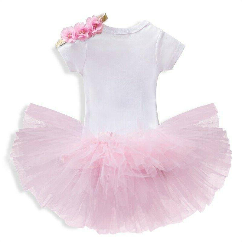 Baby Birthday Romper Skirt Outfit