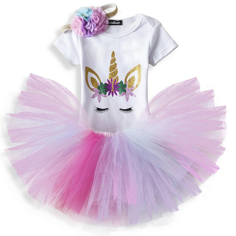 Baby Girls First Birthday Romper Outfit