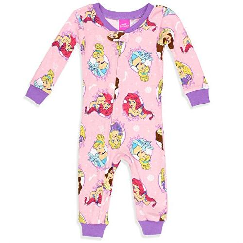 baby girls multi princess cotton non footed