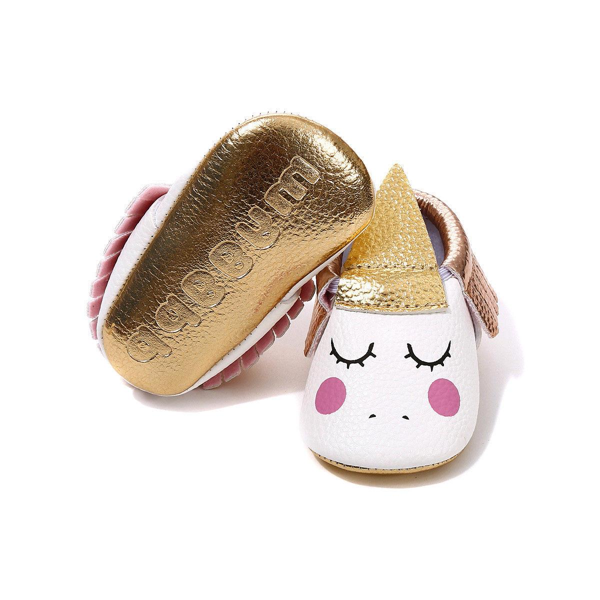 Baby Walkers moccasins Toddler Unicorn