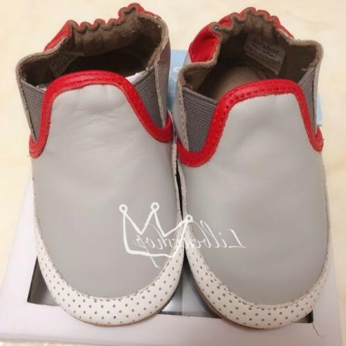 ROBEEZ RED/GREY SOFT SOLES SHOE SIZE:12-18