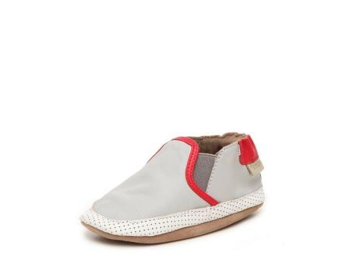 baby liam basic red grey soft soles