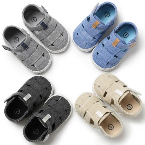 Baby Newborn Sole Leather Shoes Boy Sandals