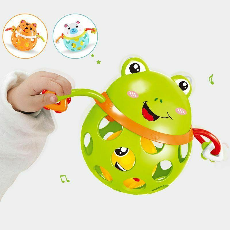 Baby Rattles toy Intelligence Grasping Gums Plastic Animal M